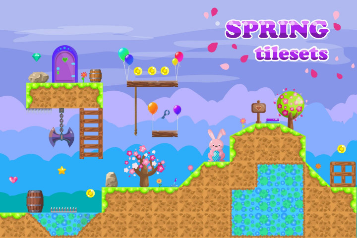Platformer-Spring-Game-TileSet