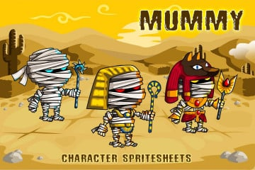 2D Fantasy Mummies Character Sprite
