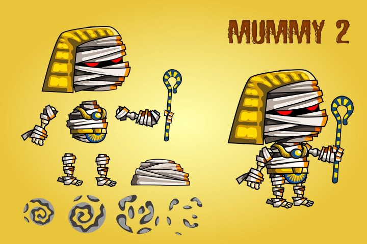 2D-Fantasy-Mummies-Sprite-Sheets