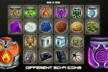 Free Different Sci-Fi Item Icons