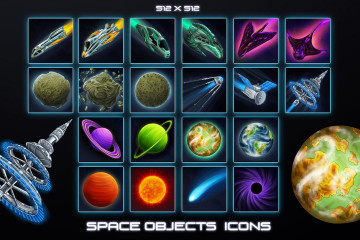 Free Sci-Fi Icons – Space Objects