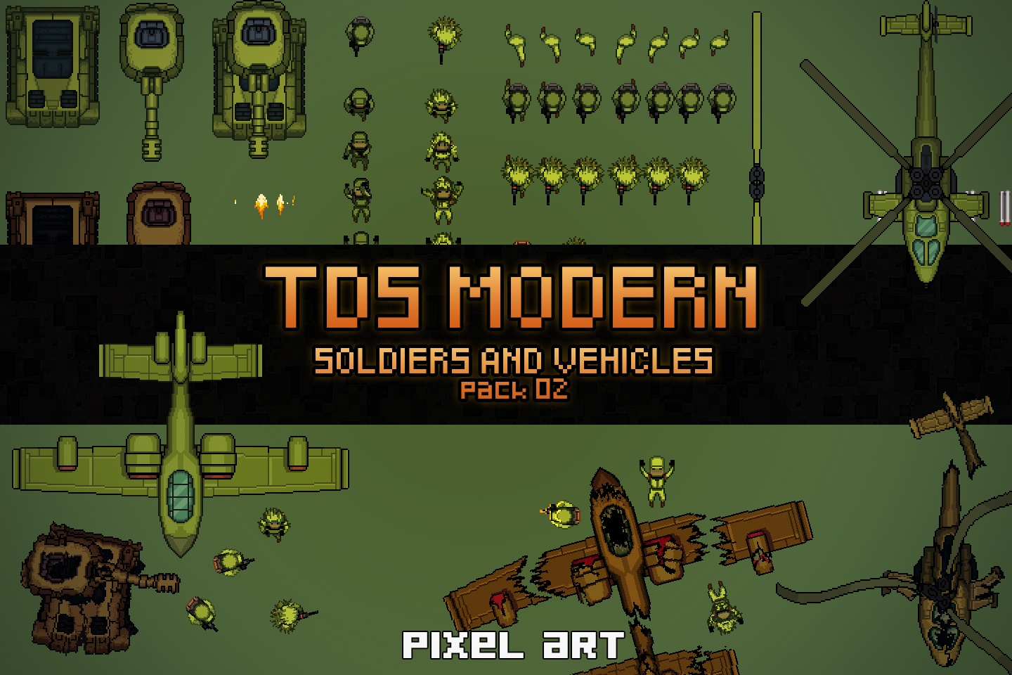 TDS Modern: Soldiers And Vehicles Sprites 2