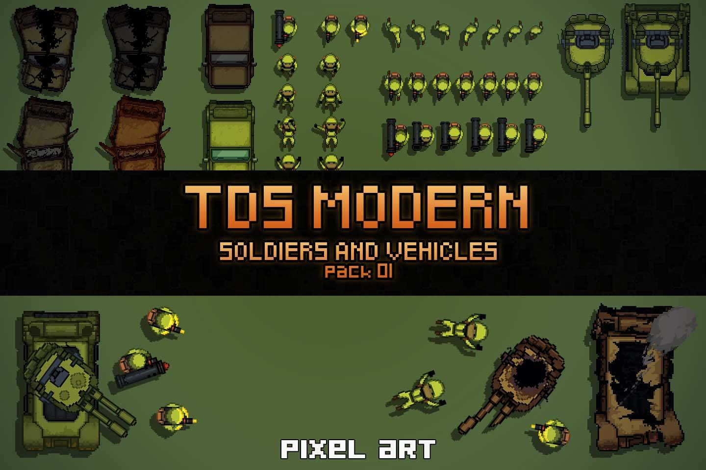 TDS Modern: Soldiers And Vehicles Sprites