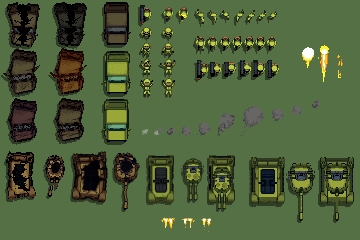 TDS-Pixel Art-Modern-soldiers-and-vehicles-sprites
