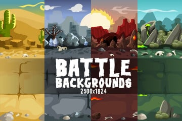 2D Battle Backgrounds