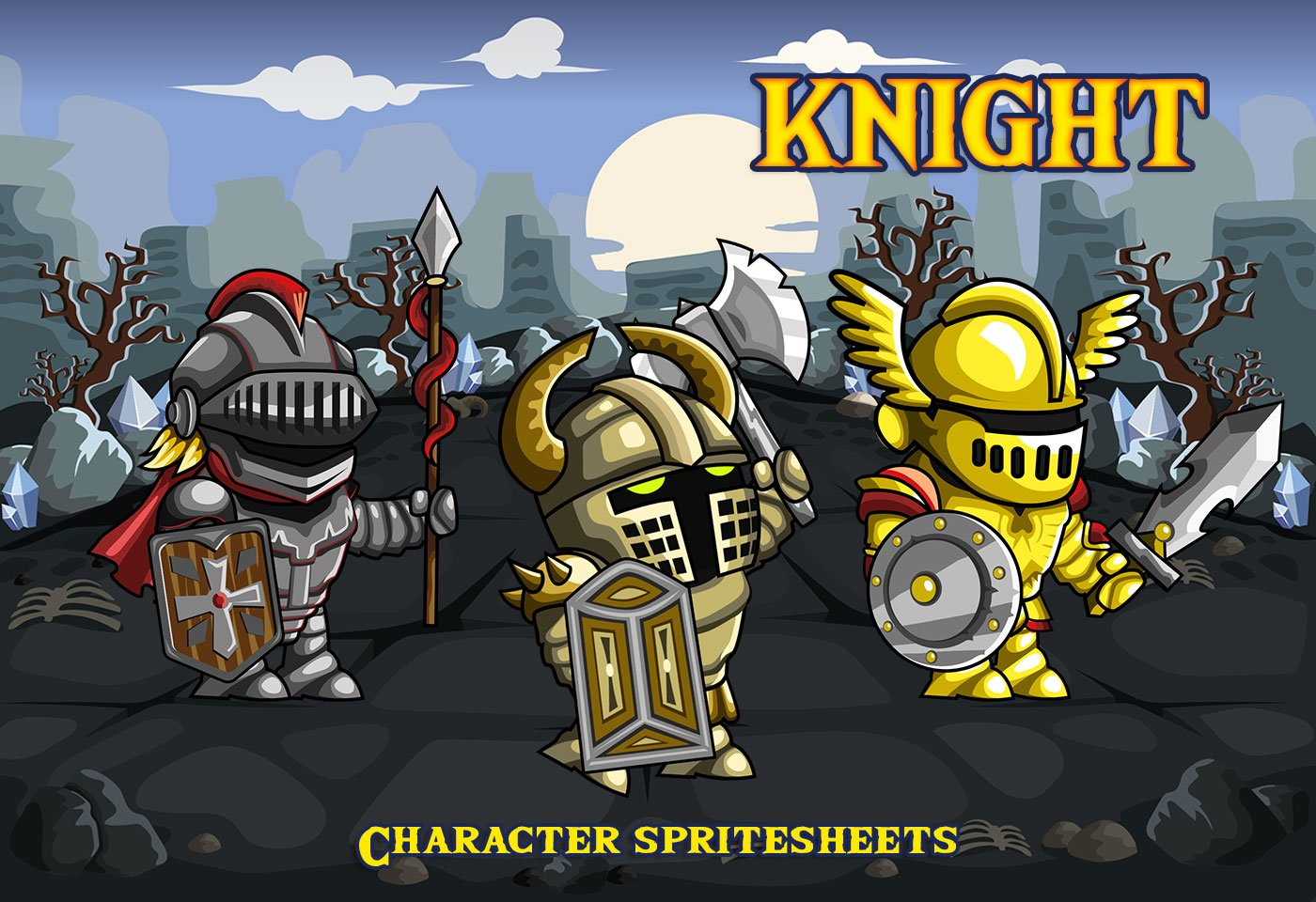 2D Fantasy Knight Free Character Sprite