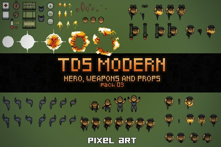 TDS-Modern-Hero-Weapons-and-Props