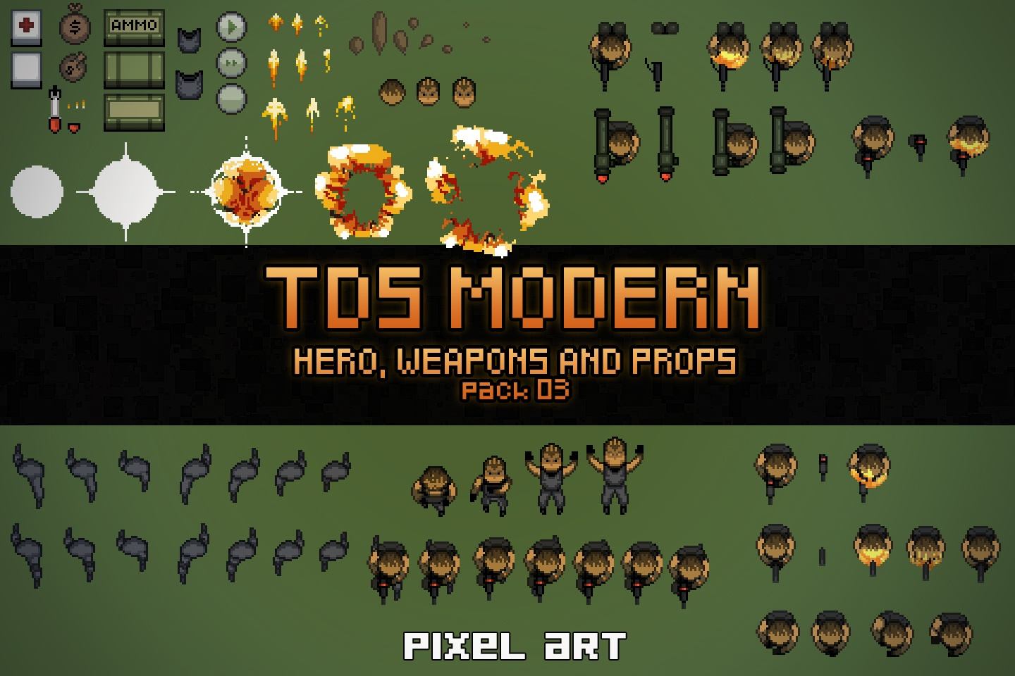 TDS Modern: Hero, Weapons and Props
