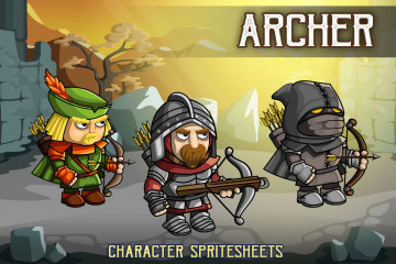 2D Fantasy Archer Character Sprite