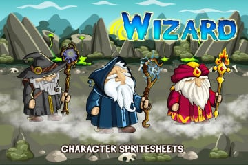 2D Fantasy Wizards Character Sprite
