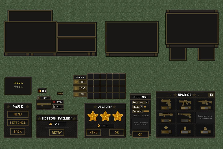 Free TDS Modern: GUI Pixel Art