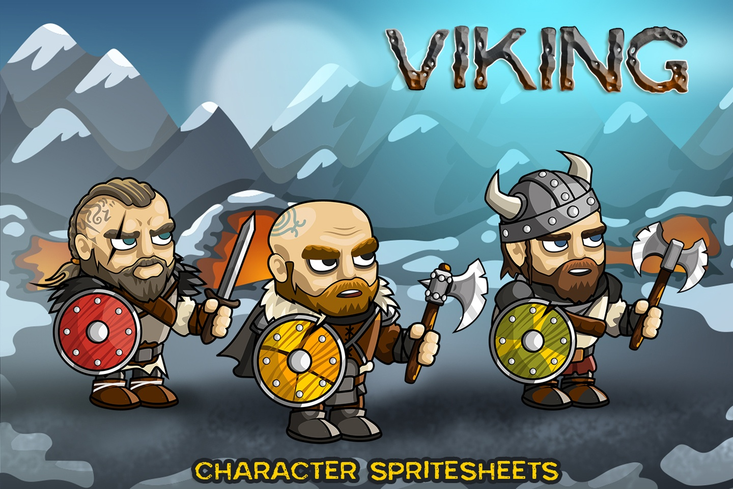 2D Fantasy Viking Character Sprite