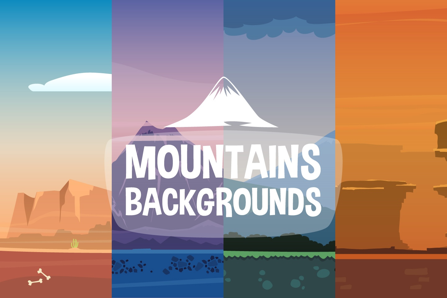2D Mountain Backgrounds