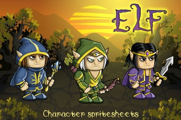 2D Fantasy Elf Free Character Sprite