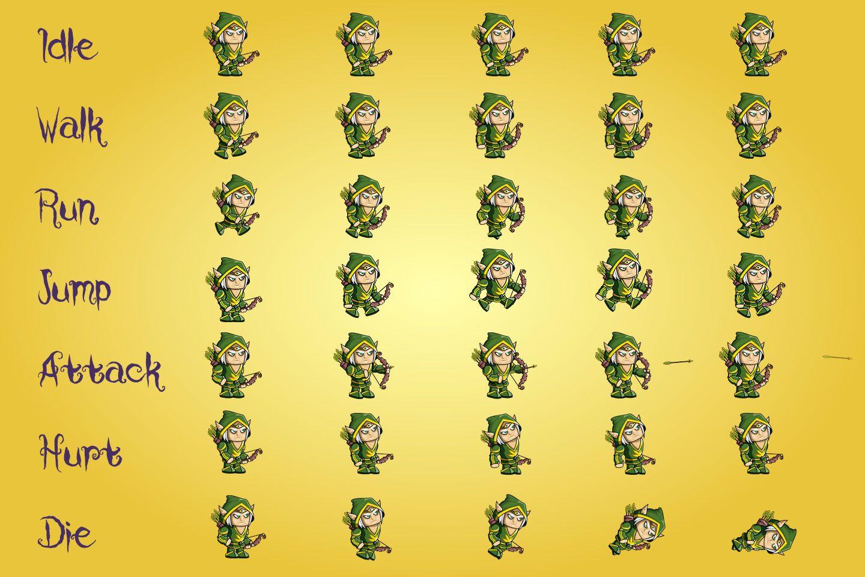 2D Fantasy Elf Free Character Sprite