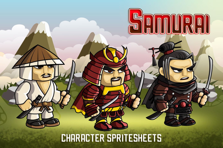 2d-fantasy-samurai-sprite-sheets
