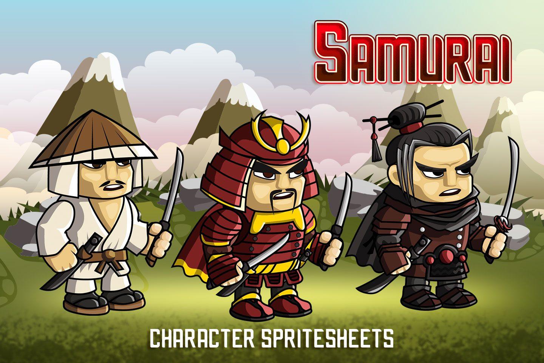 2D Fantasy Samurai Character Sprite