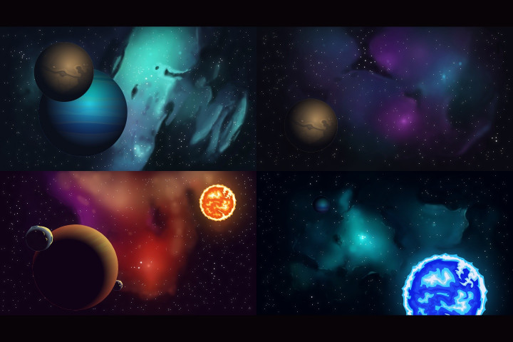 Space-2D-Backgrounds