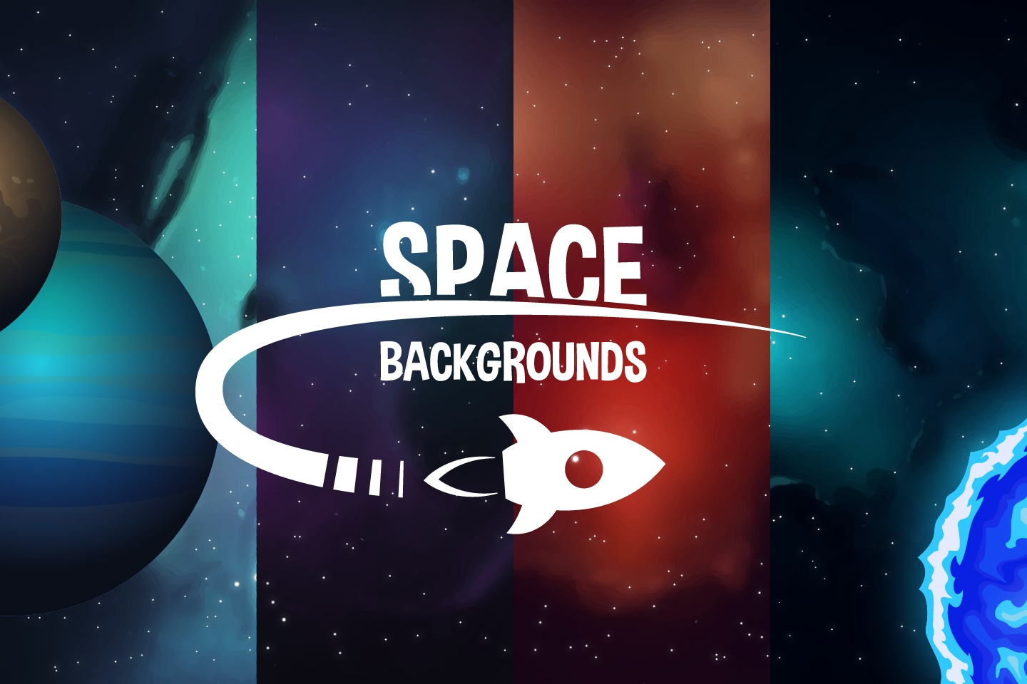 Space 2D Backgrounds