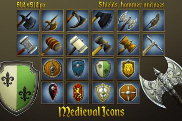 Medieval Icons: Shields, Hammers and Axes