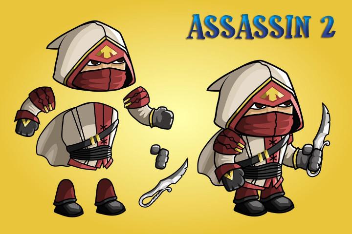 2D-Fantasy-Asassin-Sprite-Sheets