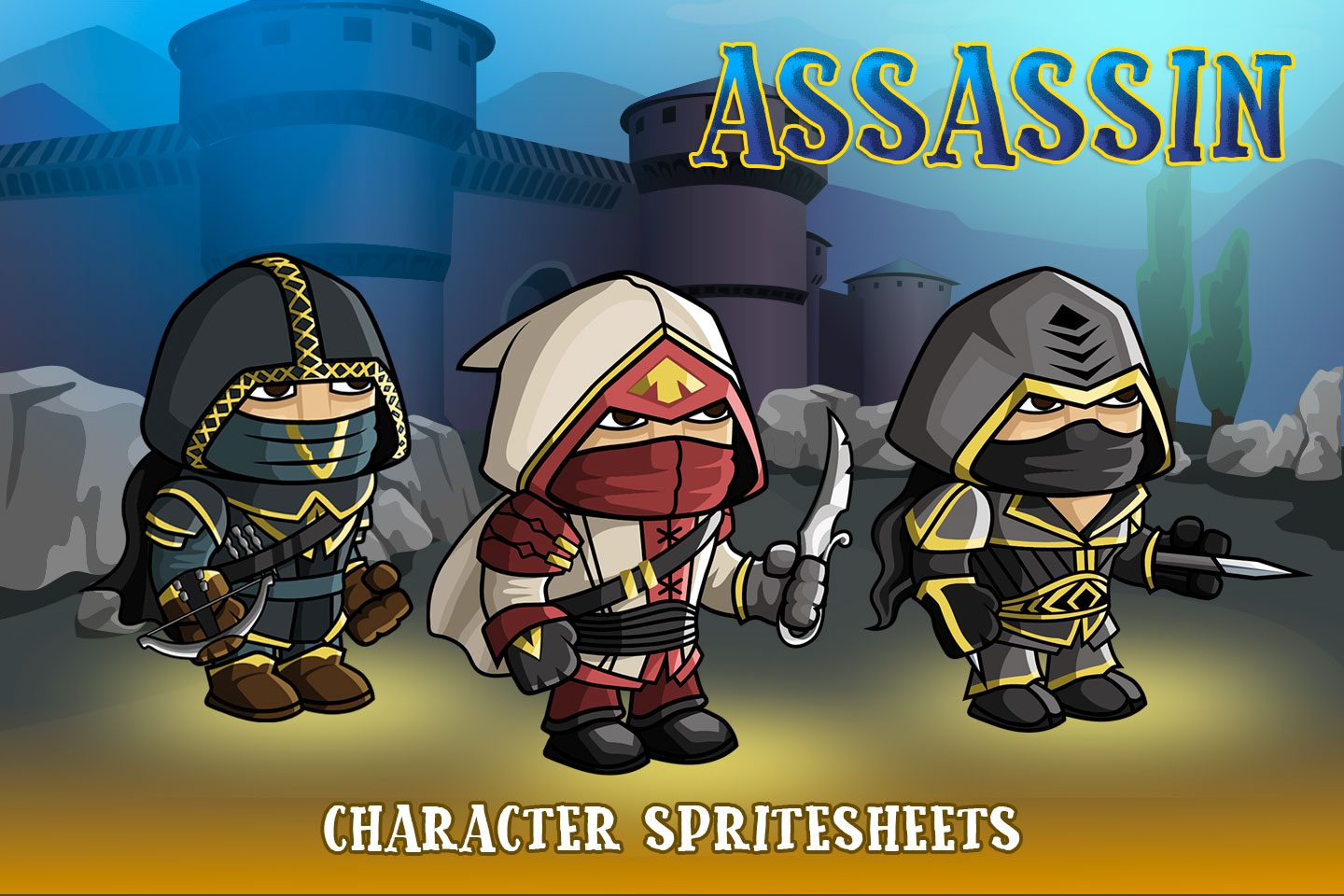 2D Fantasy Asassin Character Sprite