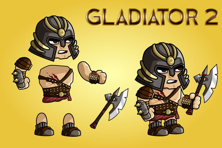 2D-Fantasy-Gladiator-Sprite-Sheets