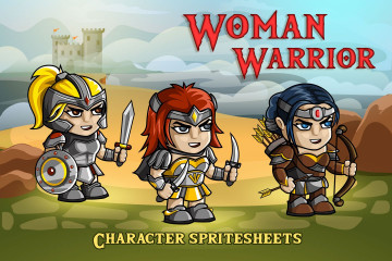 2D Fantasy Woman Warrior Free Character Sprite