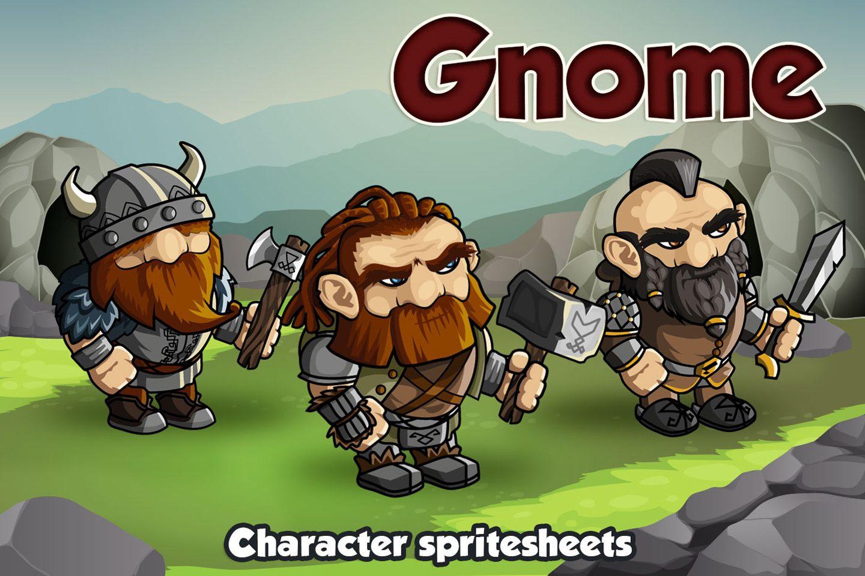 2D Fantasy Gnome Character Sprite