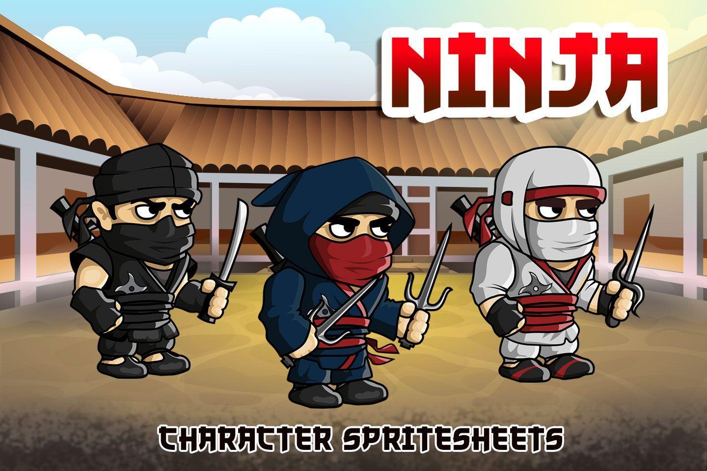2D Fantasy Ninja Character Sprite