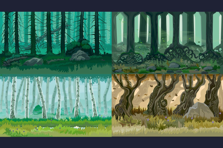 Forest 2D Game Backgrounds - CraftPix.net