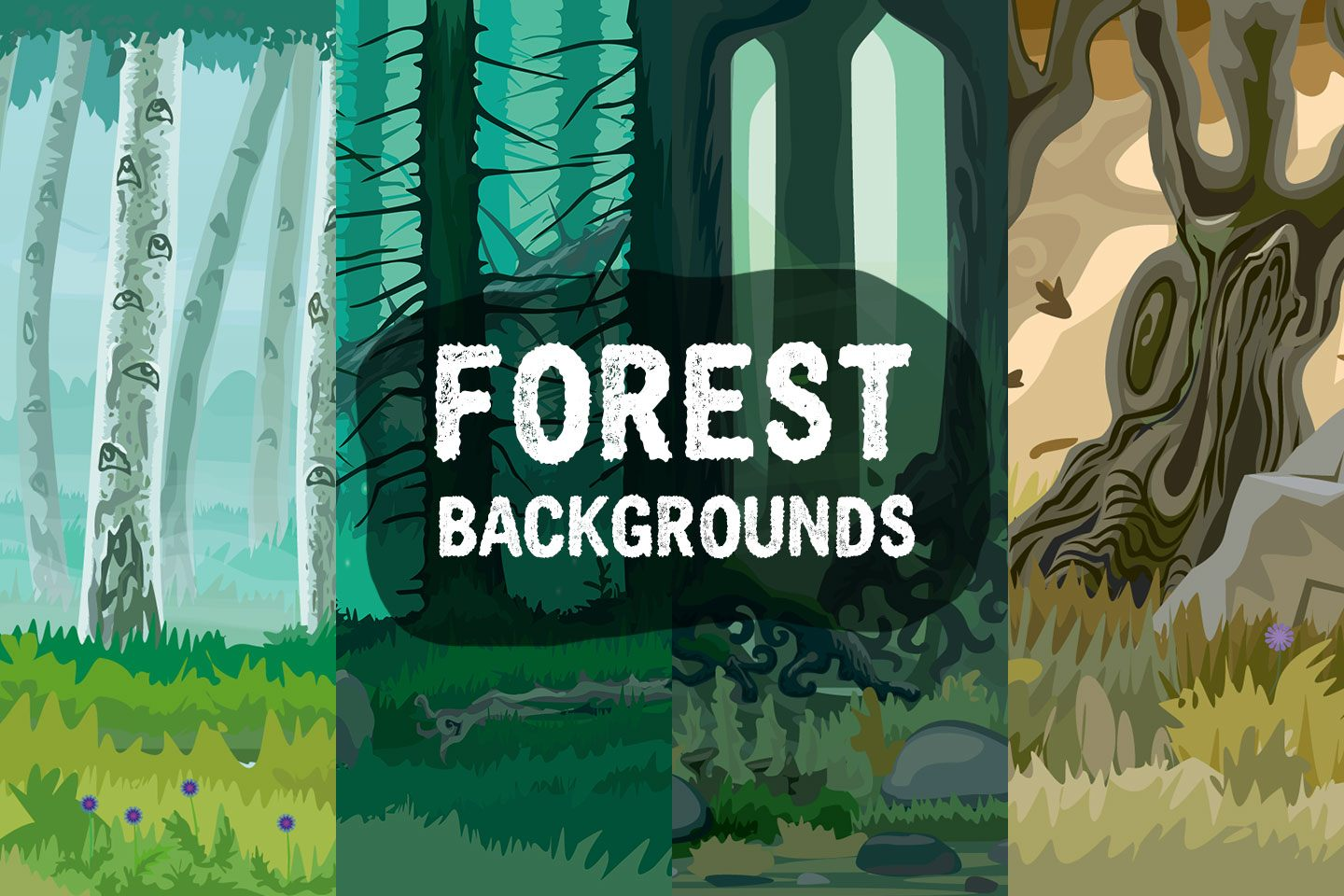 Forest 2D Game Backgrounds