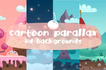 Free Cartoon Parallax 2D Backgrounds