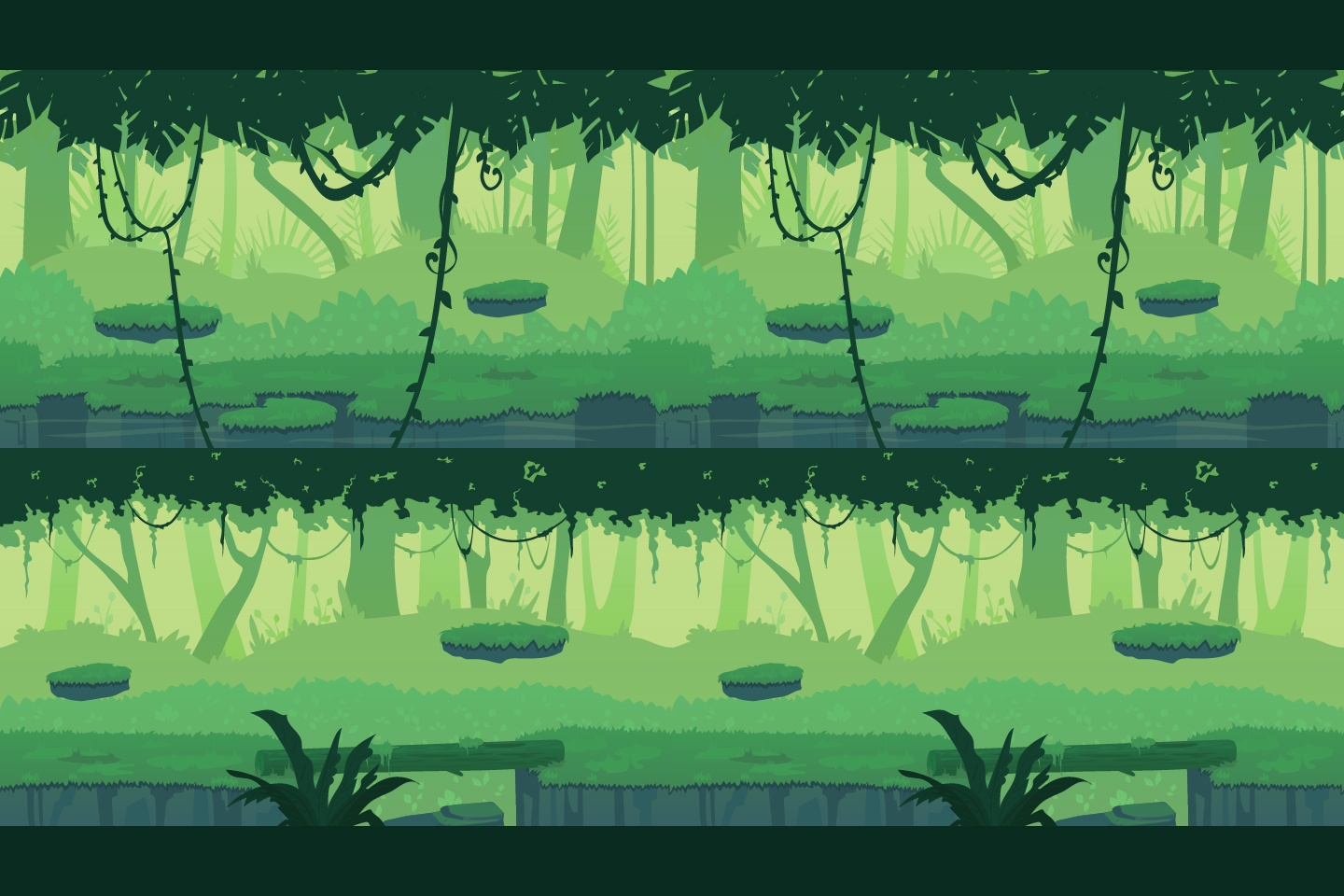 jungle 2d game backgrounds - craftpix