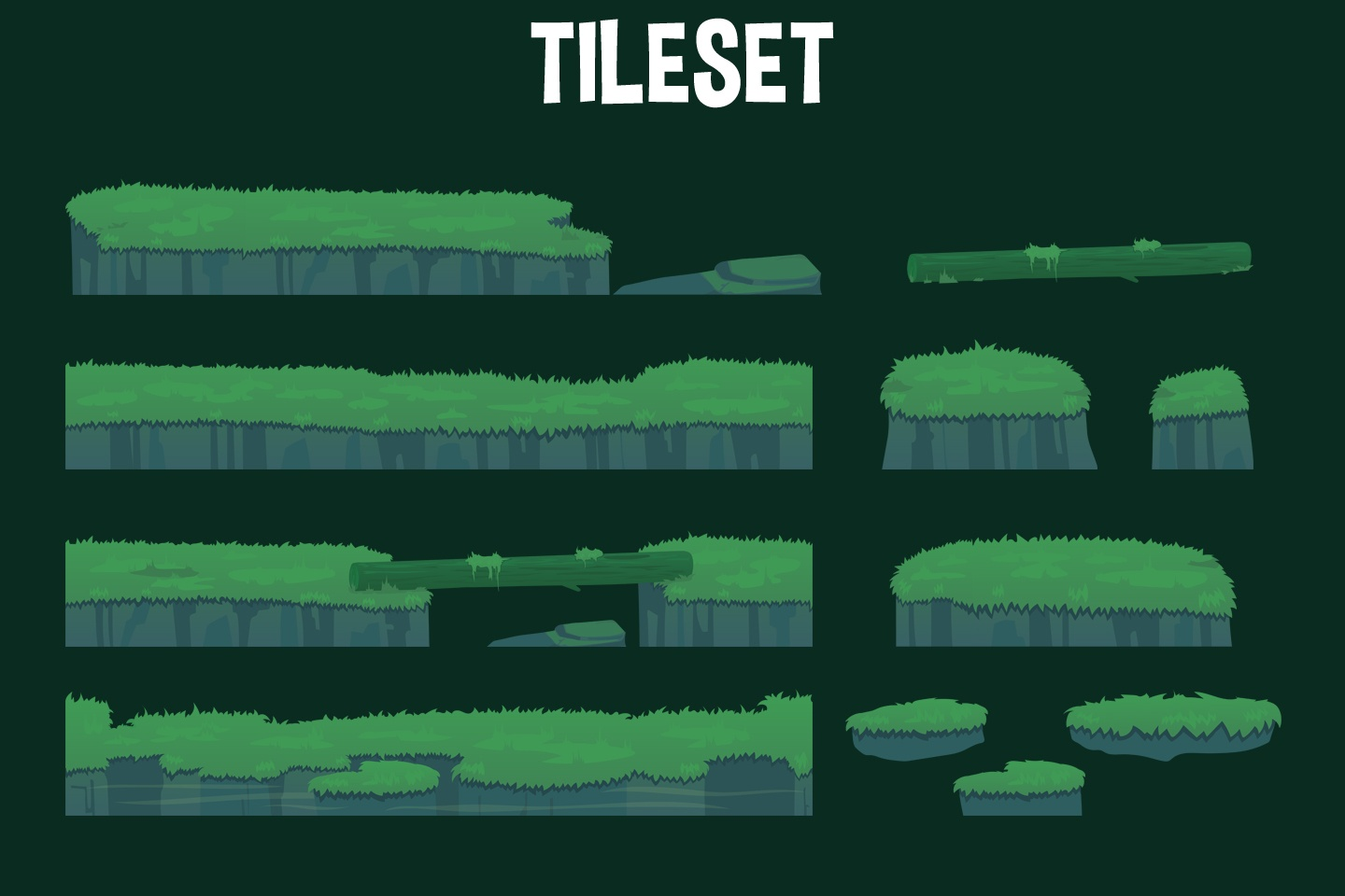 Jungle 2D Game Backgrounds