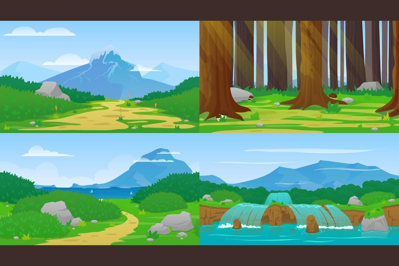 nature horizontal 2d game backgrounds - craftpix