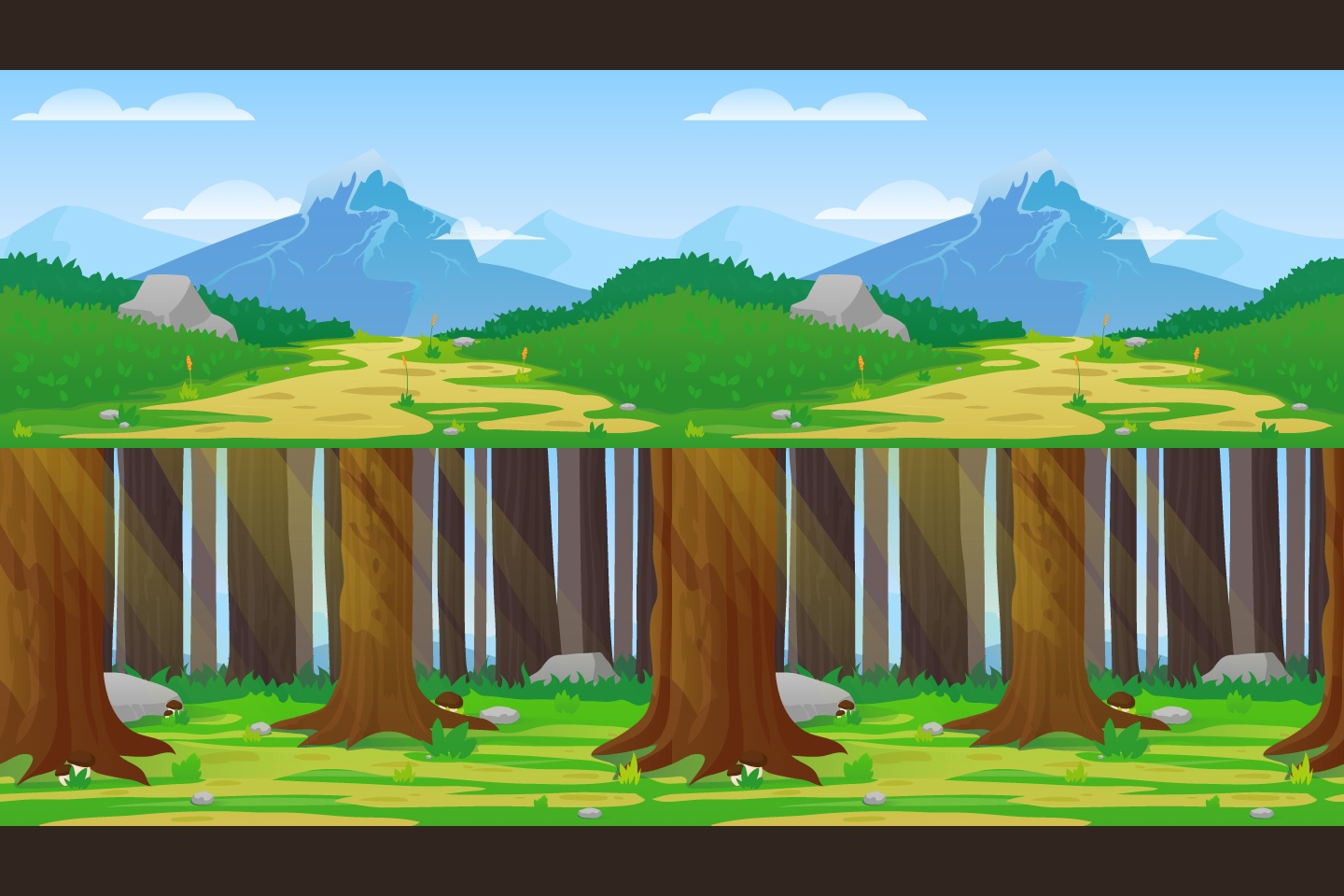 Nature horizontal 2d game backgrounds - 2d nature wallpapers ...