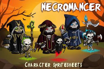 2D Fantasy Necromancer Character Sprite