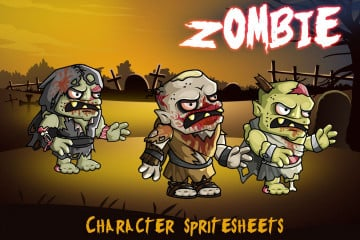 2D Fantasy Zombie Character Sprite