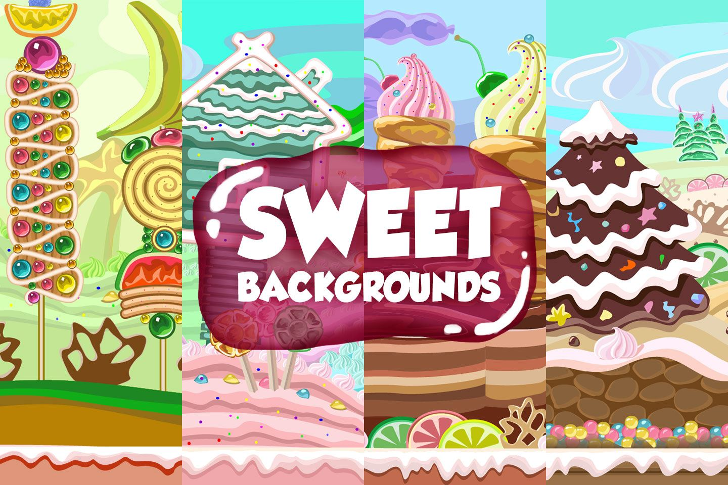 Sweet 2D Game Backgrounds