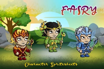 2D Fantasy Fairy Free Character Sprite