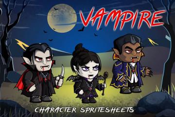 2D Fantasy Vampire Character Sprite