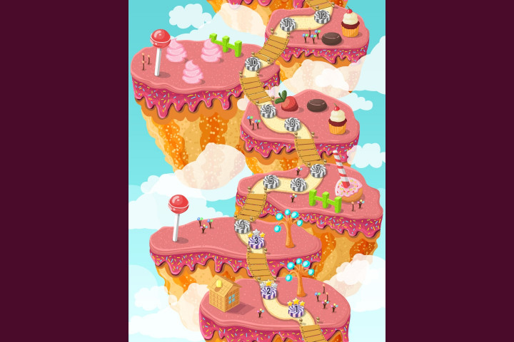 Candy-Game-Level-Map-Backgrounds