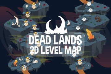 Dead Lands Level Map 2D Backgrounds