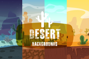 Desert 2D Game Backgrounds