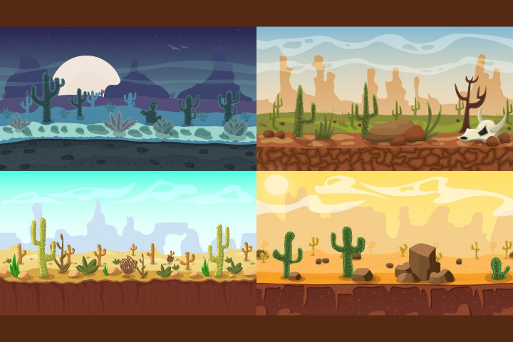 Desert-2D-Game-Backgrounds