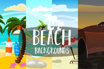 Free Beach 2D Game Backgrounds