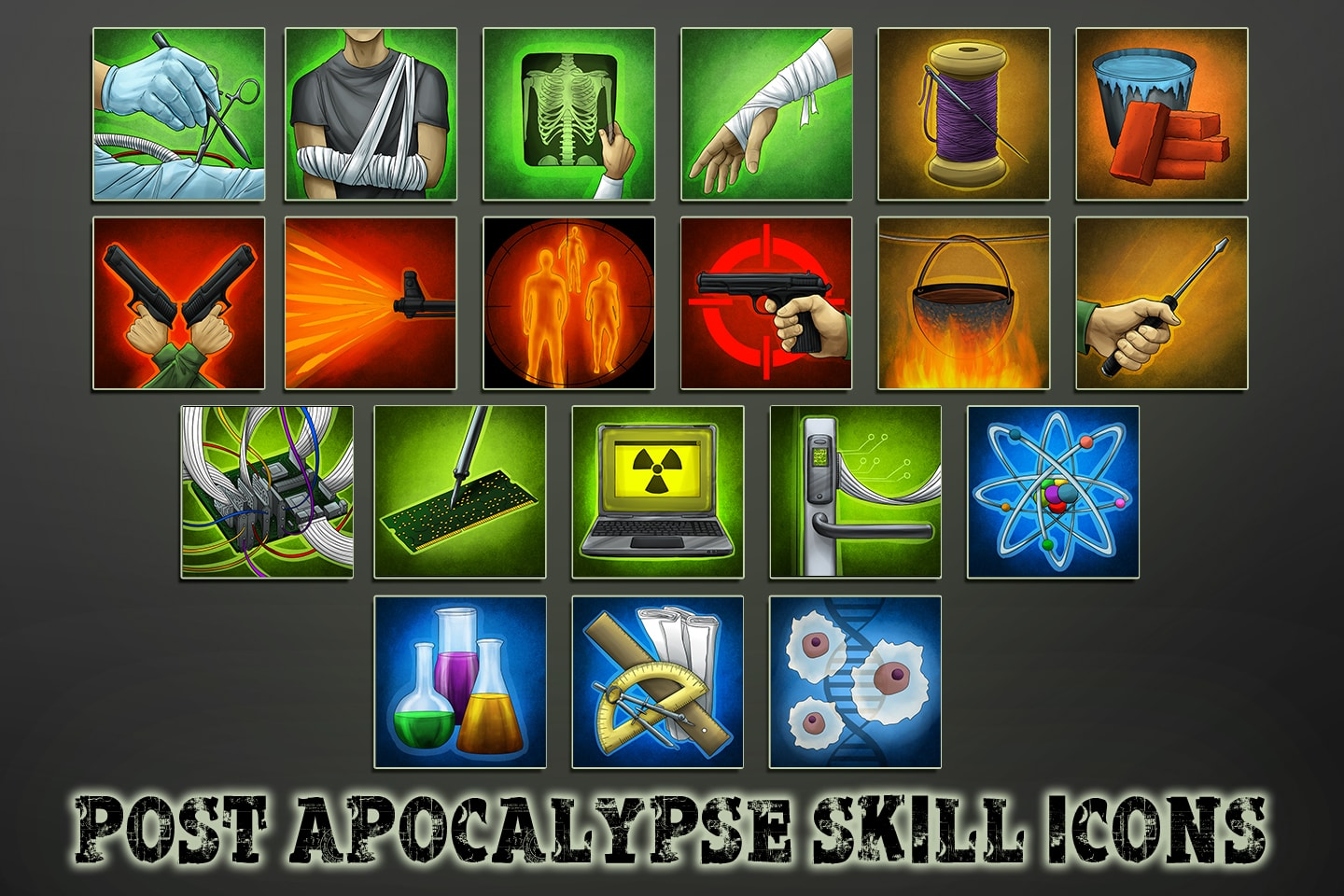 Post-Apocalypse Skill Icons