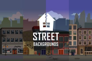 Street 2D Game Backgrounds