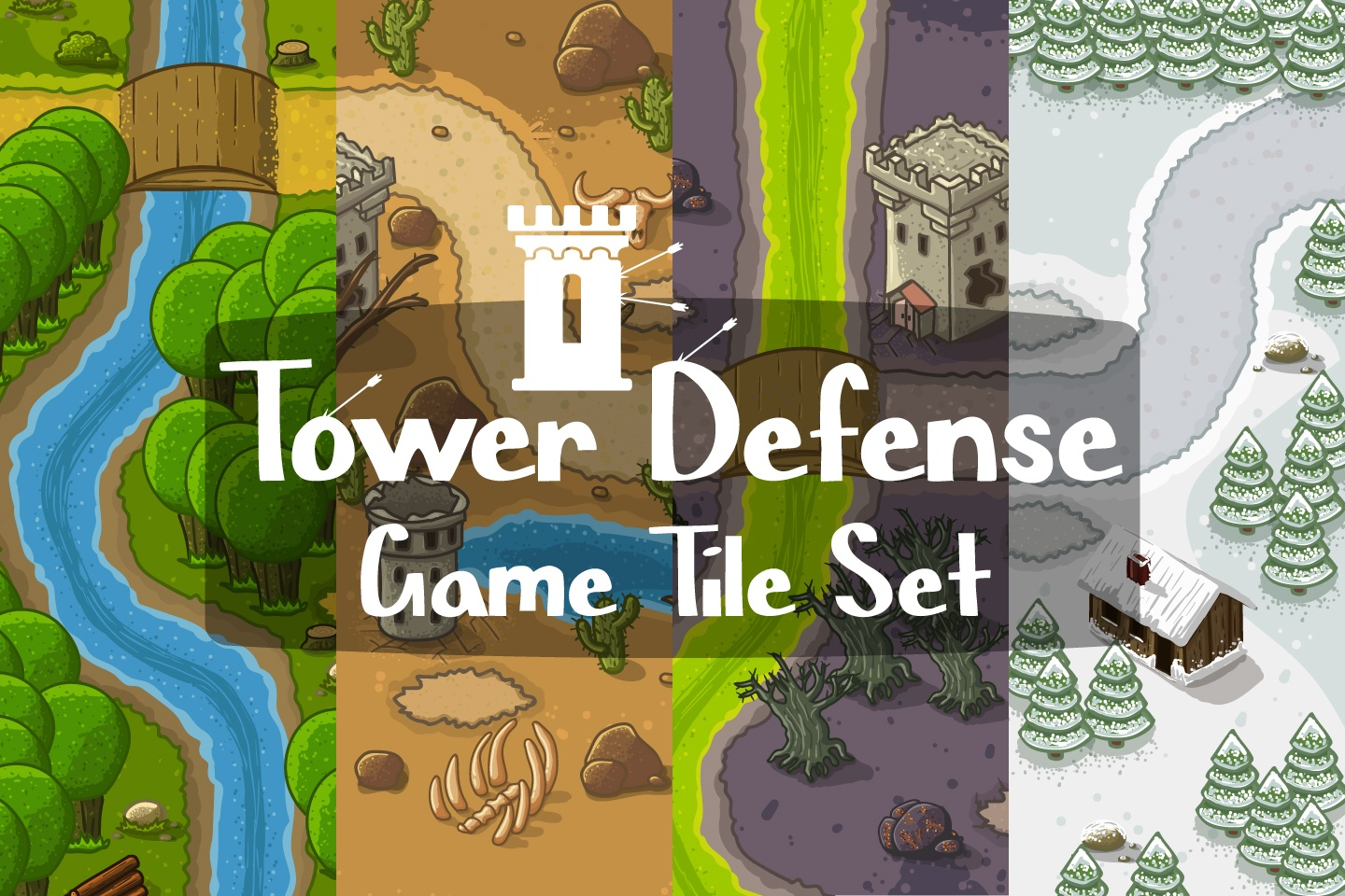 Tower Defense Game Tilesets